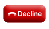 decline button post 3d red